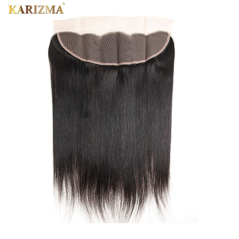 Karizma Brazilian Straight Hair Lace Frontal Closure 13x4 Swiss Lace Ear To Ear Remy Human Hair
