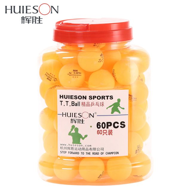 Huieson 60 pz/barrel Professionale 3 Stelle Ping Pong Palline 40mm 2.9g Ping Pong Sfera Giallo Bianco per il Tennis Da Tavolo Gioco di Formazione