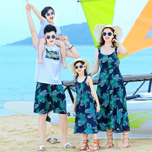summer family matching outfits mommy and me clothes mother daughter dresses dad son tshirt+shorts 2pcs clothing sets family look недорого