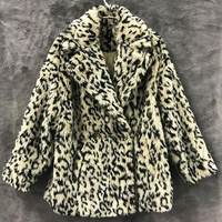 European Designer Women Faux Fur Coats Real Picture Leopard Print Import China Winter Lamb Fur Jacket Coat Women Clothing A072