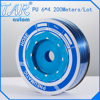 PU Tube 6mm*4mm 200meter/roll) pneumatic tubes pneumatic hoses Polyurethane tube plastic hose air hose PU pipe PU hose