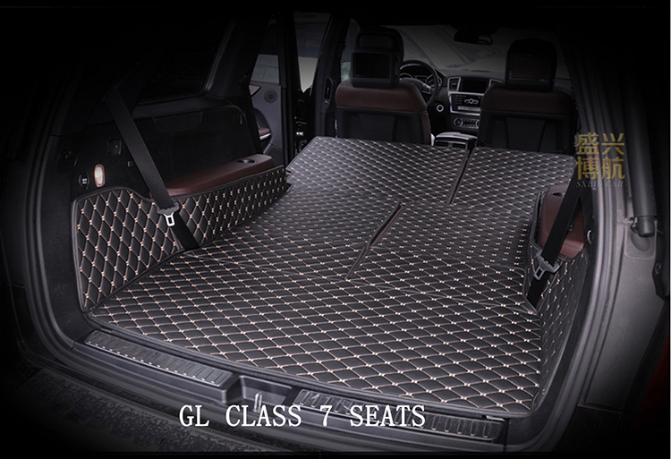 Custom Mercedes Gl350 Gl450 Gl550 7seats Trunk Mats Cargo Liners Tray Pet Protector Leather In Floor From Automobiles