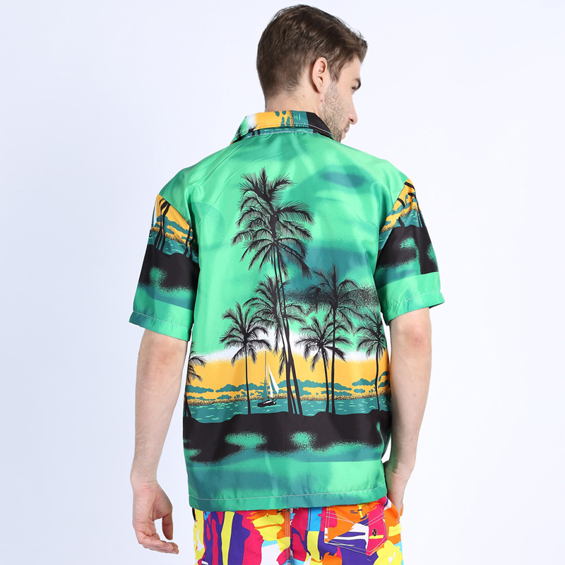 Men Hawaii Shirt Summer Beach Leisure Floral Tropical Seaside Hawaiian Shirts Plus 3XL Casual Camisas Short Sleeve Tops