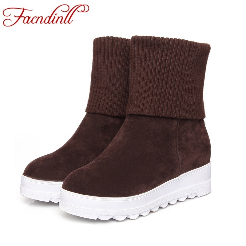 FACNDINLL new women winter boots high heel round toe sexy women wedge ankle boots black red riding boots ladies Warm boots woman 2018 new arrival microfiber round toe buckle solid fashion winter boots superstar warm thick heel handmade women ankle boots l01