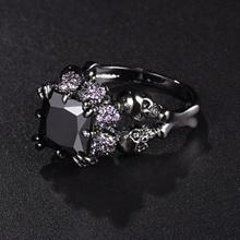 Black Zircon Wedding Ring Jewelry