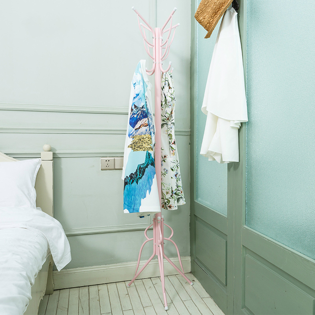 European iron bedroom modern simple clothes shelf floor hanger hanger assembly coatrack