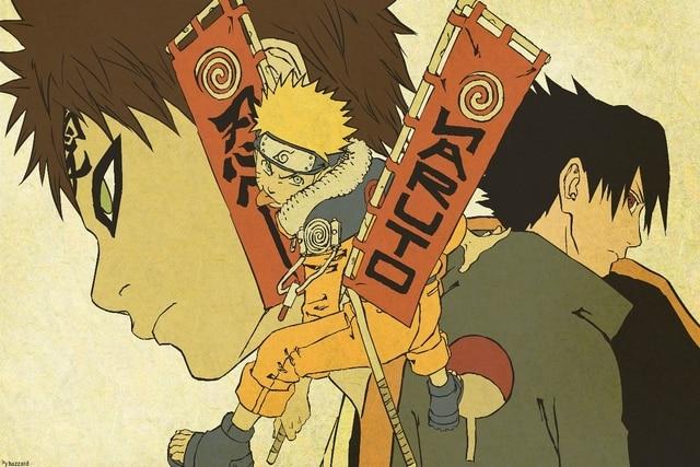 anime guys fantasy Gaara Naruto Uzumaki Sasuke Uchiha living room ...