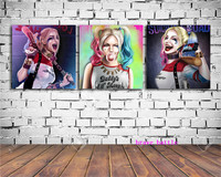 Harley Quinn Justice League 3 Pieces Canvas Painting Print Living Room Home Decor Modern Wall Art Oil Painting