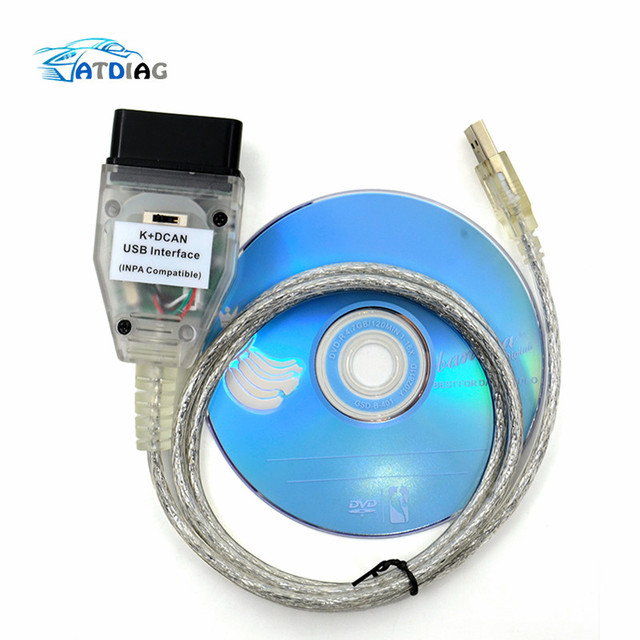 New For BMW INPA K+CAN K CAN INPA With FT232RL Chip with Switch for BMW INPA K DCAN USB Interface Cable for BMW K CAN Inpa