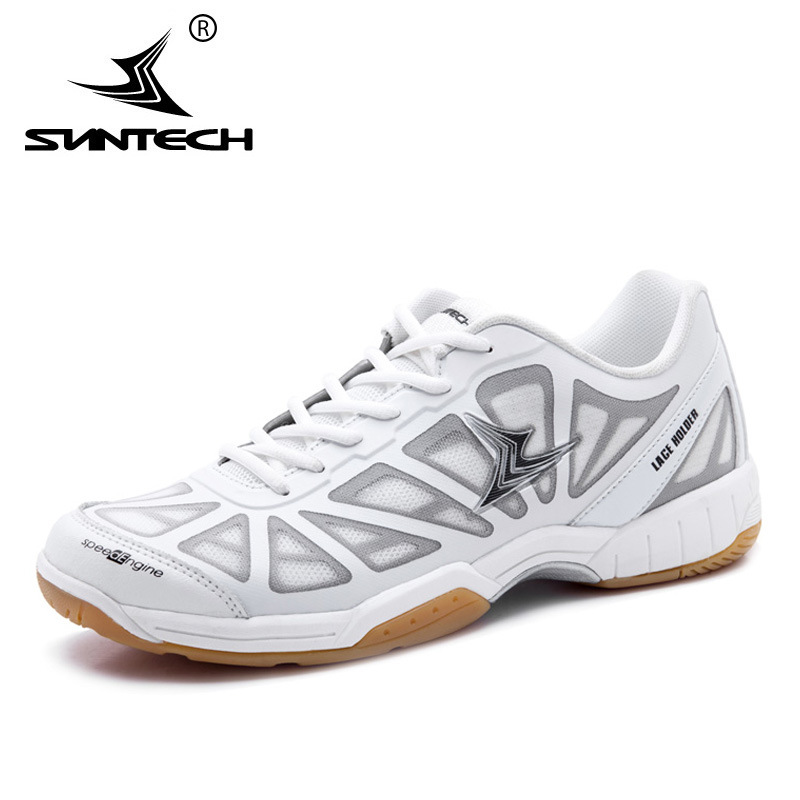 Suntech Men Badminton Shoes Top high quality lace holder technology Breathable Anti-Slippery Light Sneakers Sport Shoes new balance nb574 2018 new authentic encap mesh breathable sneakers men sport shoes anti slippery badminton shoes wide