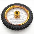 "60/100-14 GuangLi Tyre 1.40-14"" Inch Front Dirt Bike Pit Bike Racing Full Wheels Aluminum Alloy hub Rim 32 holes PIT PRO KTM CRF"
