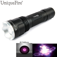 UniqueFire UF 1507 Led Flashlight To Hunt IR 940NM 20mm Convex Len Infrared Light Night Vision