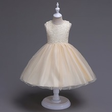 Kids Dresses For Girls age 3 4 5 6 7 8 9 10 year old dance wear Graduation wedding daughter gift tulle Cute Princess Dress 2018