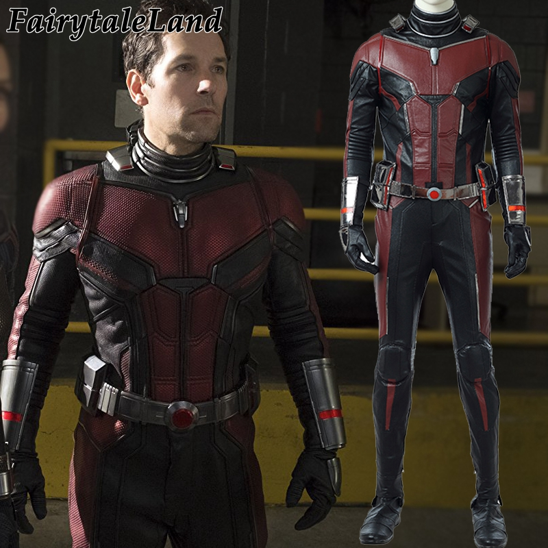 Ant-Man 2 Scott Lang Ant-Man Cosplay Costume Halloween Costumes Ant-man and the Wasp Cosplay Antman costume Superhero jumpsuit new 5pcs marvel superhero ant man wasp yellow jacket action figure toys doll