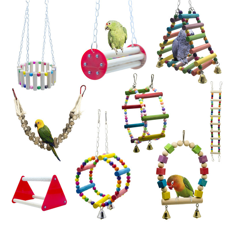 Parrots Toys And Bird Accessories For Pet Toy Swing Stand Budgie Parakeet Cage African Grey Vogel Speelgoed Parkiet