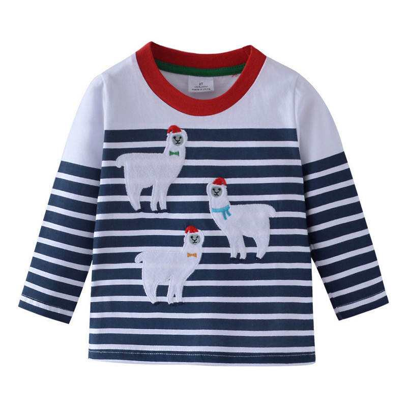 Baby boys clothes cotton animals kids t shirts long sleeve stars children tees boys tops autumn spring toddler fashion t shirts 1