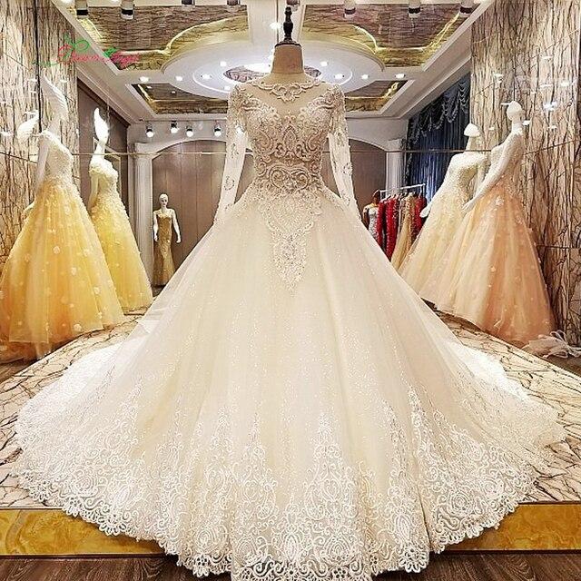 Traum Engel Vestido De Noiva Langarm spitze Hochzeitskleid 2017 Sexy ...