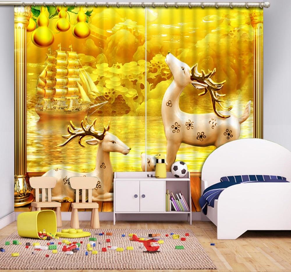 European Curtains Photo Painted 3D Curtain Living room animal curtains European Curtains Photo Painted 3D Curtain Living room animal curtains