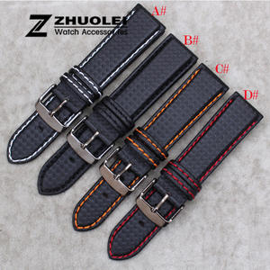 zhuolei 18mm Mens Genuine Leather Watch Band Strap