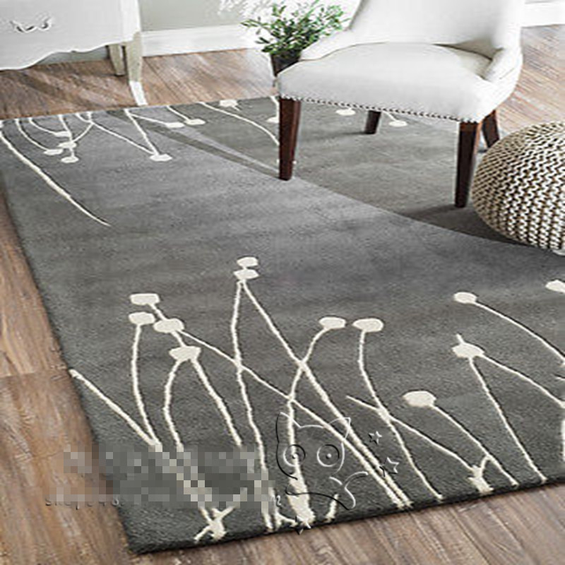 2016 NEW Arrival White Black Grey fashion Carpet Rugs And Carpets For Living Room Mat Bath Mats And Toilet Handmade Acrylic|fashion carpets|carpet fashion|rugs and carpets - title=