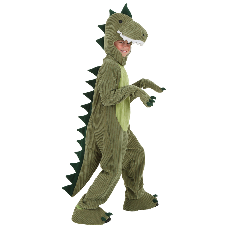 Fearsome Dinosaur Child T-rex Halloween Cosplay Costume Kids Soft And Cushy Little Dino Suit To Be A Real Life Monster
