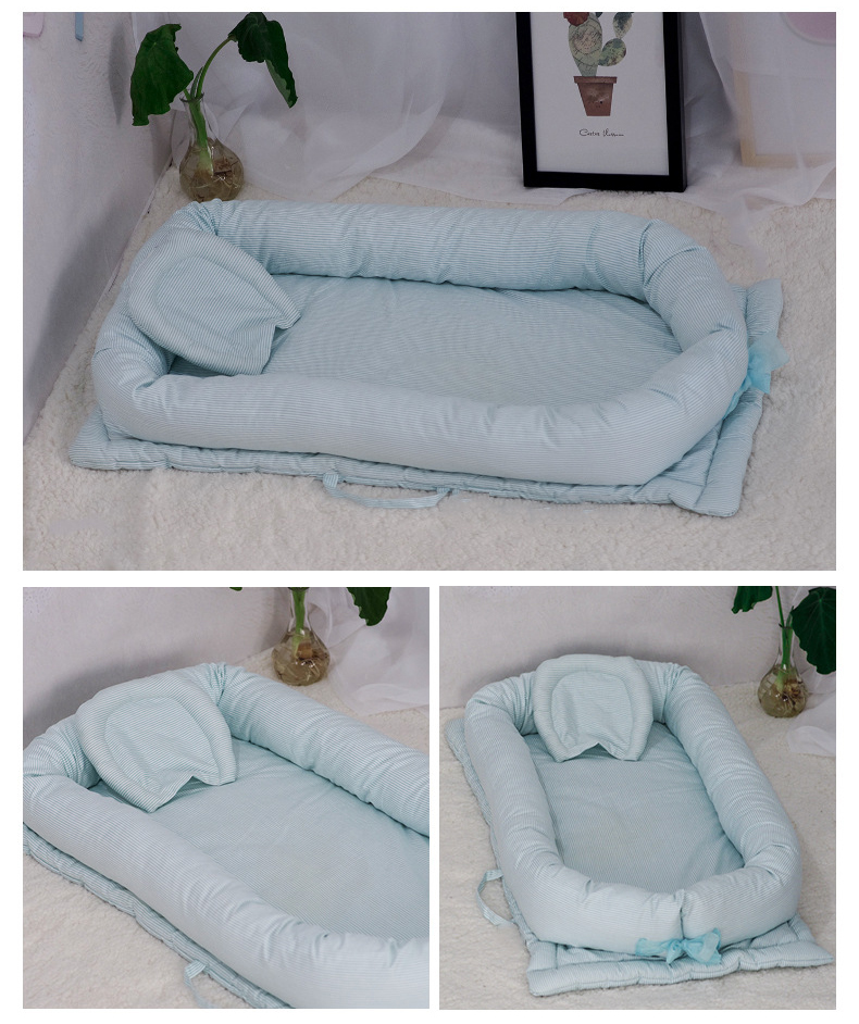 Baby Nest Bed Crib Portable Removable And Washable Baby Crib Travel Bed