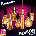 Lâmpada do Bulbo do vintage Retro Antigo Edison Lâmpadas E14 E27 Lâmpada Incandescente Luz Esquilo-gaiola Decorativa Lâmpada de Filamento Edison Lâmpada
