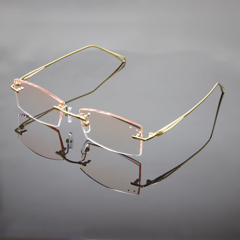 Rimless Glasses Polished Edges : ?Titanium Alloy Rimless Eyeglasses ?_? Frame Frame 8156 ...