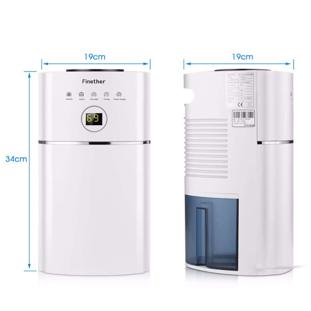 High Quality Finether DS01A 01 2.4L Capacity Digital Air Dehumidifier Anion UV Low  Energy Air Purify For Home Wardrobe Bathroom Kitchen In Dehumidifiers From  Home ...