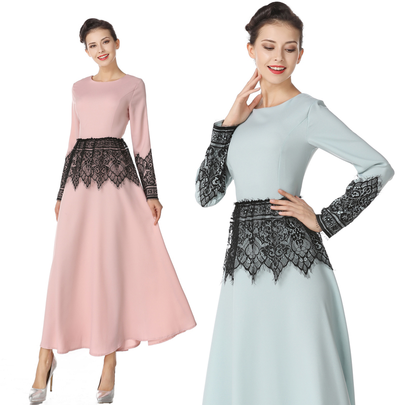 2018 Spring Autumn New Fashion Women Long Dress Full Sleeve O-neck High Waist Indie Folk ...