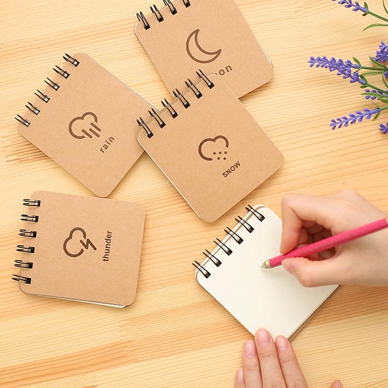 Korea Stationery Väderprognos Series Coil Book Bärbar - Block och anteckningsböcker - Foto 1