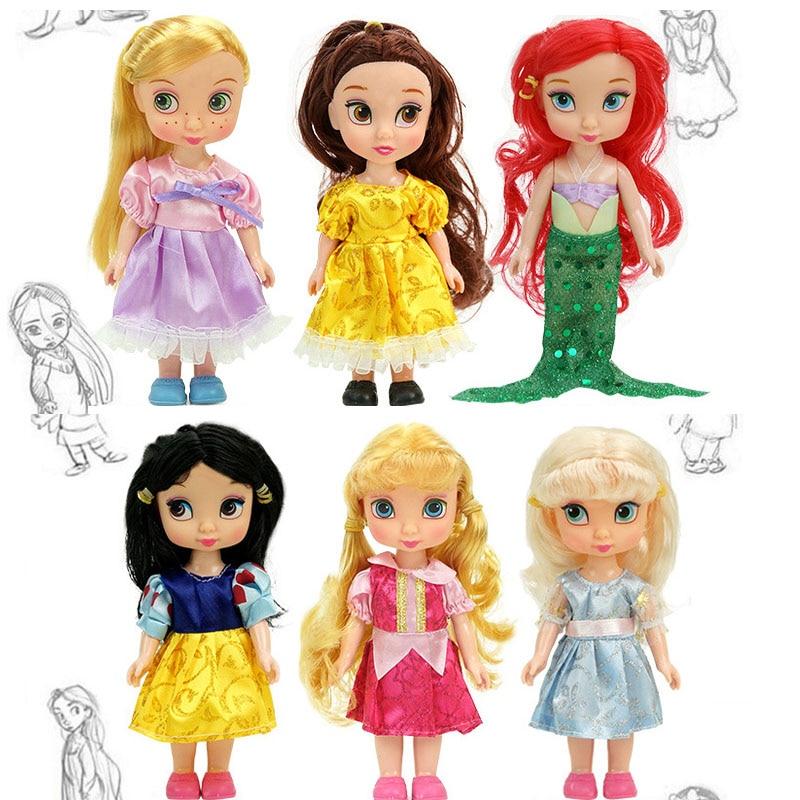 Dolls Belle Princess-Doll Baby Toys Animators Rapunzel Snow-White Girls Aurora Sharon