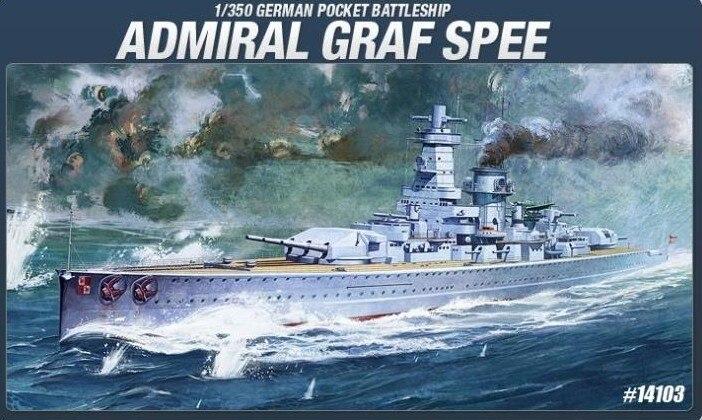 ФОТО Academy 14103 German Pocket Battleship ADMIRAL GRAF SPEE 1/350 Model Kit