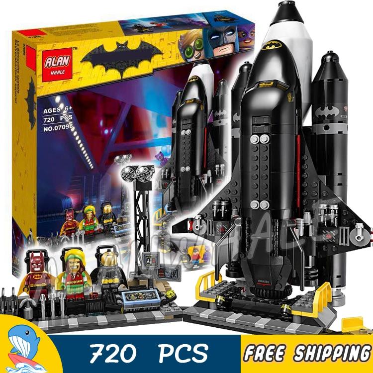 720pcs Super heroes Batman Movie DC Bat-Space Shuttle Batcave Buggy 07098 Model Building Blocks Toys Bricks Compatible With lego