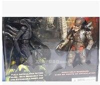 דמות פעולת neca alien vs predator 2 יח'\סט & 2 באג קטן מתנות ילד מגניבים 7 inches עם חבילה מקורית
