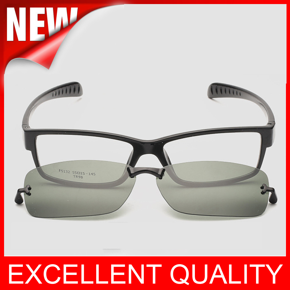 highest quality plastic titanium frame eyeglasses magnets pay two clip polarized sunglasses male myopia women men
