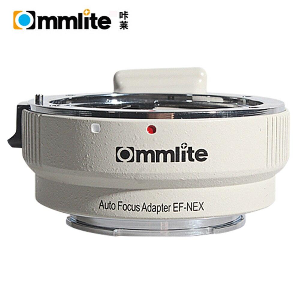 Commlite EF-NEX Auto Focus Lens Adapter for Canon EOS EF EF-S Lens to Sony E NEX Full Frame A7 A7R A7SII A7RII NEX-7 white color commlite auto focus ef nex mount adapter for canon ef ef s lens to sony e mount nex a7 a7r a7s a7ii nex 7 nex 6 5 3 full frame
