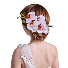 kai yunly 1PC Womens Flower Hair Clip Hairpin Bridal Hawaii Party Light Pink Aug 24