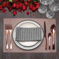 Lekoch 4 Teile/satz Rose Gold Geschirr Edelstahl Besteck Abendessen Gabeln Messer Kugeln Set Geschirr Set Geschenk für Mama