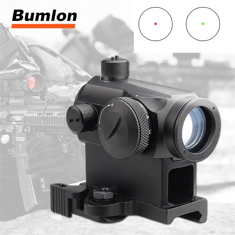 Tactical Mini 1X24 Red Dot Sight Scope with QD Quick Release Mount for Hunting Airsoft RL5-0039-14