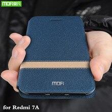 for Redmi 7A Case Xiaomi Redmi 7A Cover for Mi 7A Flip Xiomi Housing MOFi Original TPU PU Leather Soft Silicone Stand