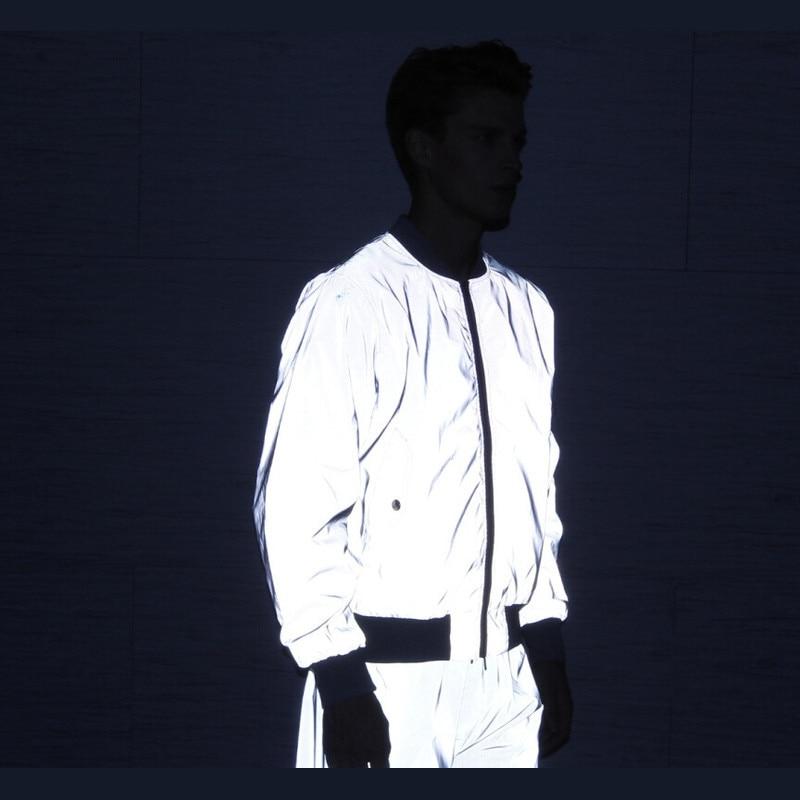 Riinr Men's 3M Full Reflective Jacket Light Hoodies Women Jackets Hip Hop Waterproof Windbreaker Hooded Streetwear Coats Man