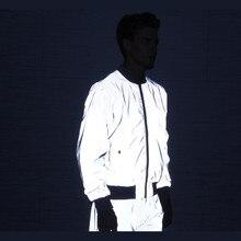 Riinr homme Complet 3m Réfléchissant Veste Légère vestes à capuche femmes Vestes Hip Hop Imperméable Coupe Vent À Capuche Streetwear Manteaux Homme