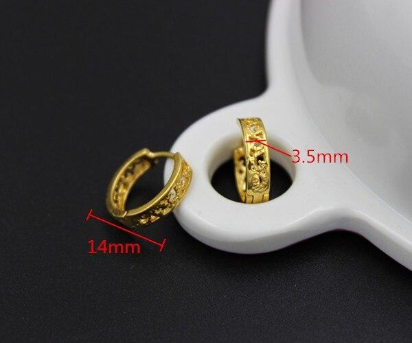 2pairs cheapest hoop earring girls dubai gold jewellery turkish egyptian algeria indian moroccan saudi gold jewelry earring in hoop earrings from jewelry