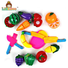 8Pcs/Set Children Vegetable Fruit Kitchen Toys Kids Pretend Playing Cutting Toy Baby Safety Learning Educational Plastic Toys