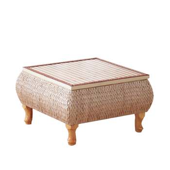 Small Coffee Table With Storage Bamboo and Rattan Tatami Platform Low Table For Living Room Furniture Home Bay Window Balcony