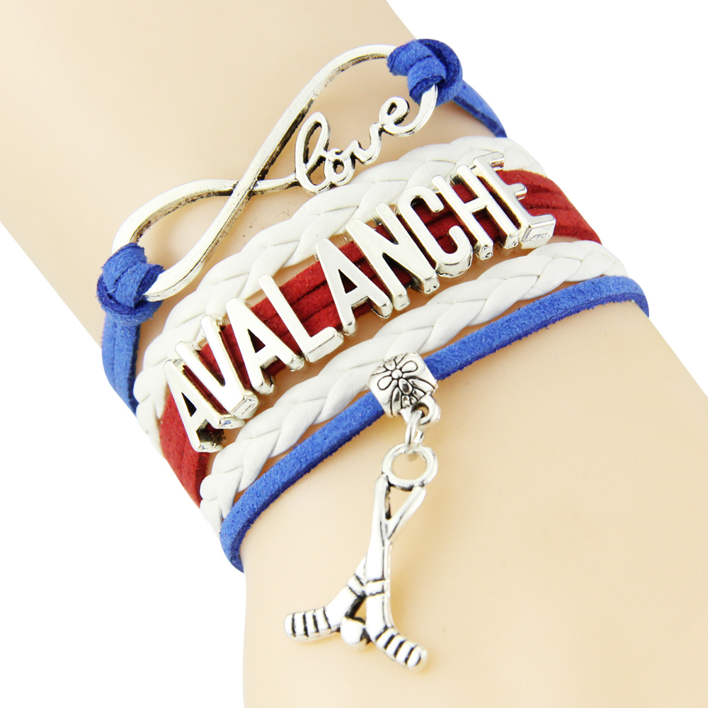 Chain Bracelet Infinite Love AVALANCHE BLue White Red Cord Golf Dropshipping