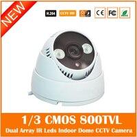 Webcams 1 3 CMOS 800TVL Security CCTV Camera Dual Array IR LED ABS Plastic Body Home