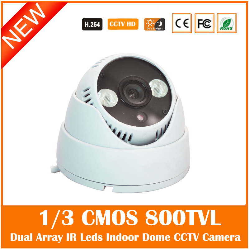 Cmos 800tvl Dome Camera Dual Array Infrared Plastic Body Surveillance Security Night Vision Cctv Freeshipping Hot Sale Cam cmos 800tvl bullet camera infrared light night vision cctv outdoor surveillance security plastic mini webcam freeshipping