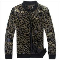 Men's jacket spring new Korean version jacket youth non mainstream Leopard jacket men Slim sequined coats male singer costumes